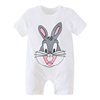 Baby short-sleeved Siamese clothes cotton male newborn female treasure summer pajamas 6 kimono 3 months 0 years old 12 thin section