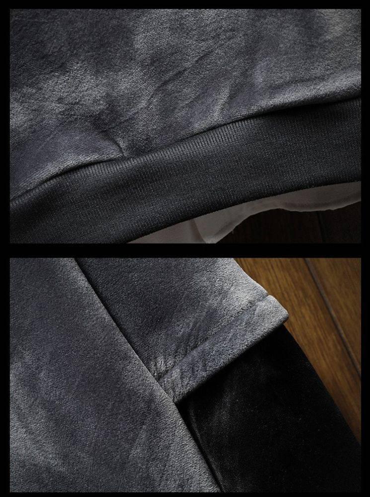 Autumn and winter new men's gold velvet jacket men's hooded plus plus thick Japanese tide brand coat original student hoodie 59 Online shopping Bangladesh