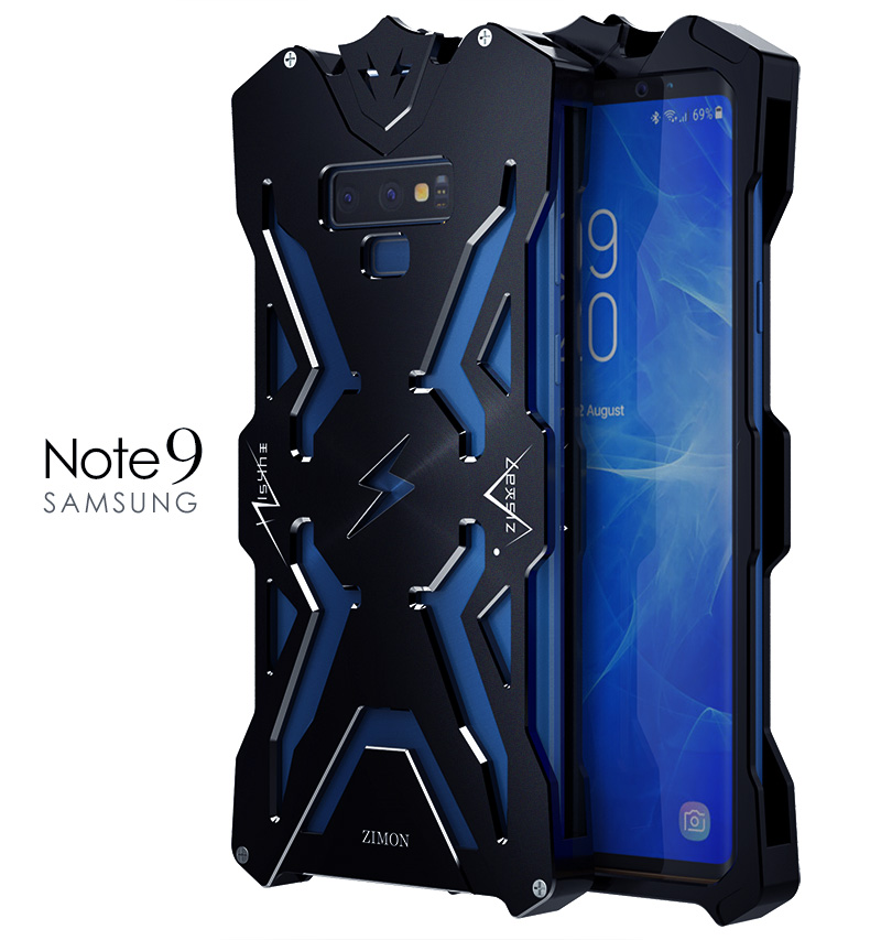 SIMON THOR Aviation Aluminum Alloy Shockproof Armor Metal Case Cover for Samsung Galaxy Note 9