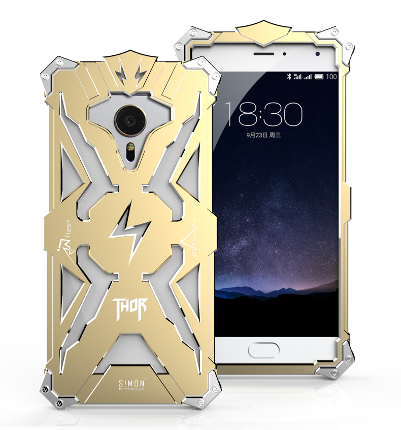 SIMON THOR Aviation Aluminum Alloy Shockproof Armor Metal Case Cover for MEIZU Pro 6 | MEIZU Pro 5