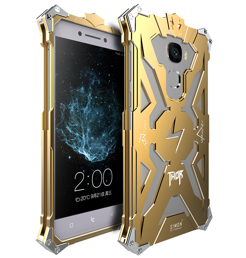 SIMON THOR Aviation Aluminum Alloy Shockproof Armor Metal Case Cover for LeTV LeEco Le Pro 3