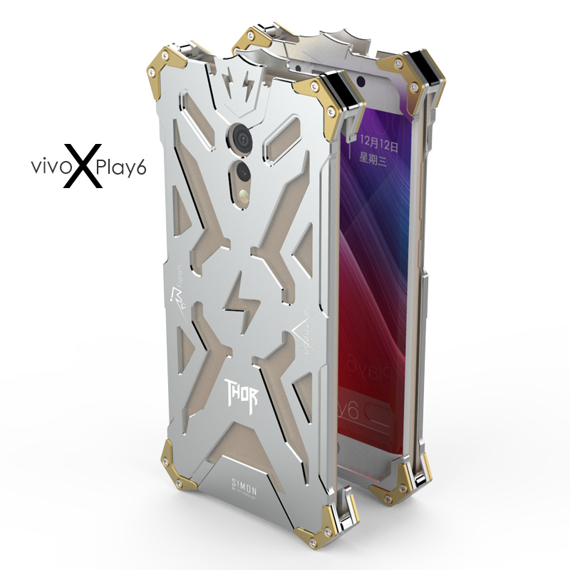 SIMON THOR Aviation Aluminum Alloy Shockproof Armor Metal Case Cover for vivo Xplay6