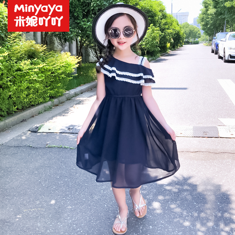b8972bf4b 8 girls summer dress 9 large children 7 Fashion 6 chiffon 12 princess dress  13 clothes 10-year-old girl skirt