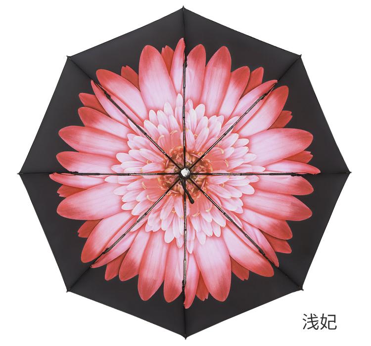Banana雙層黑膠小黑傘防曬太陽傘女超強防紫外線遮陽傘晴雨傘兩用·-多色小屋