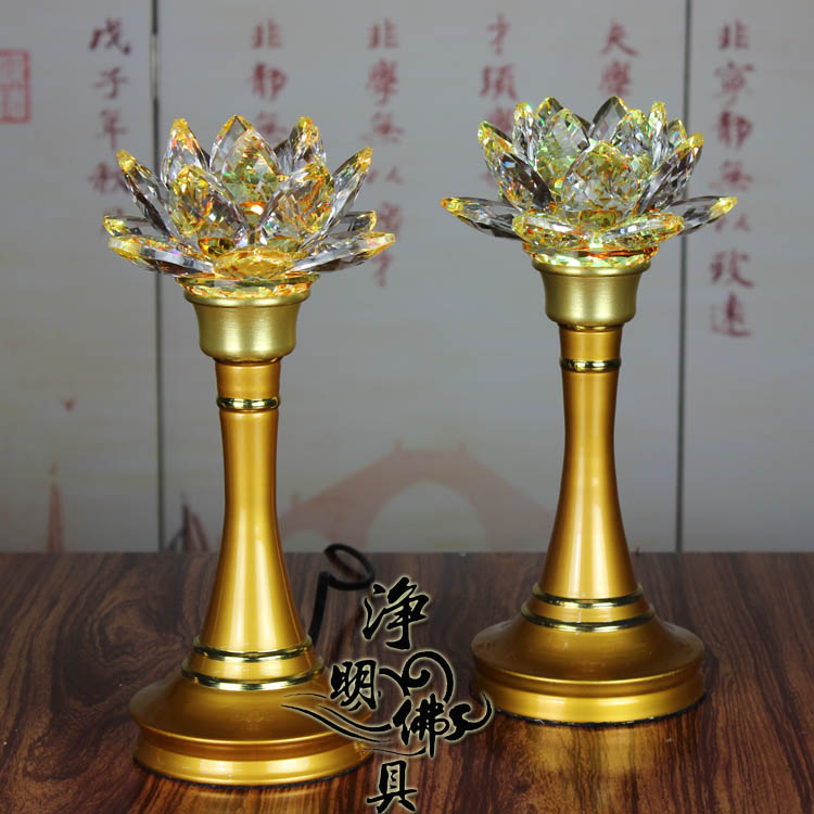 Buy Antique Handcrafted Buddha Lantern For Corporate: [USD 55.20] Taiwan Crystal Lotus Lamp Buddhist Supplies