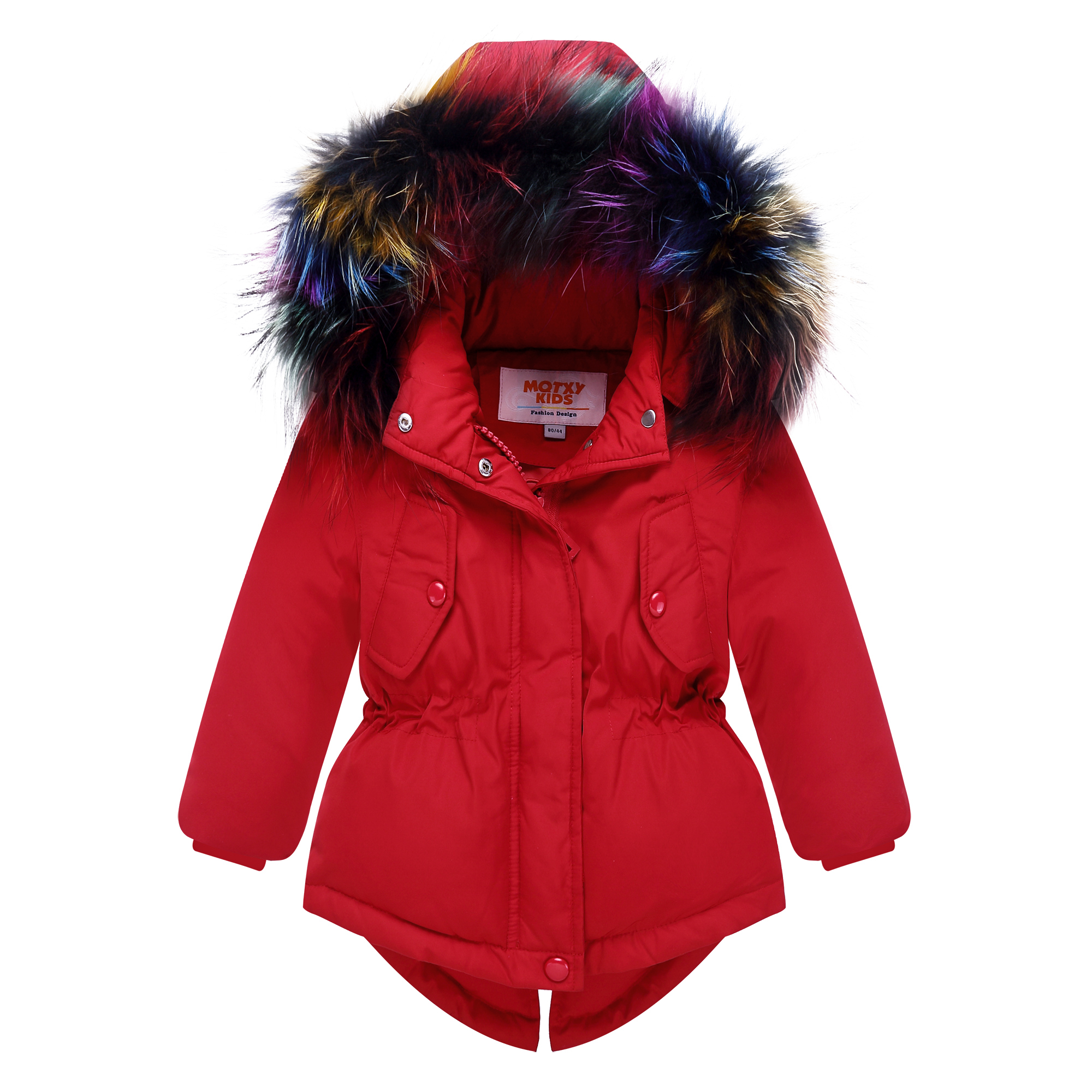 27a71a5c1 USD 106.98  Girls down jacket in the long section of the boy jacket ...
