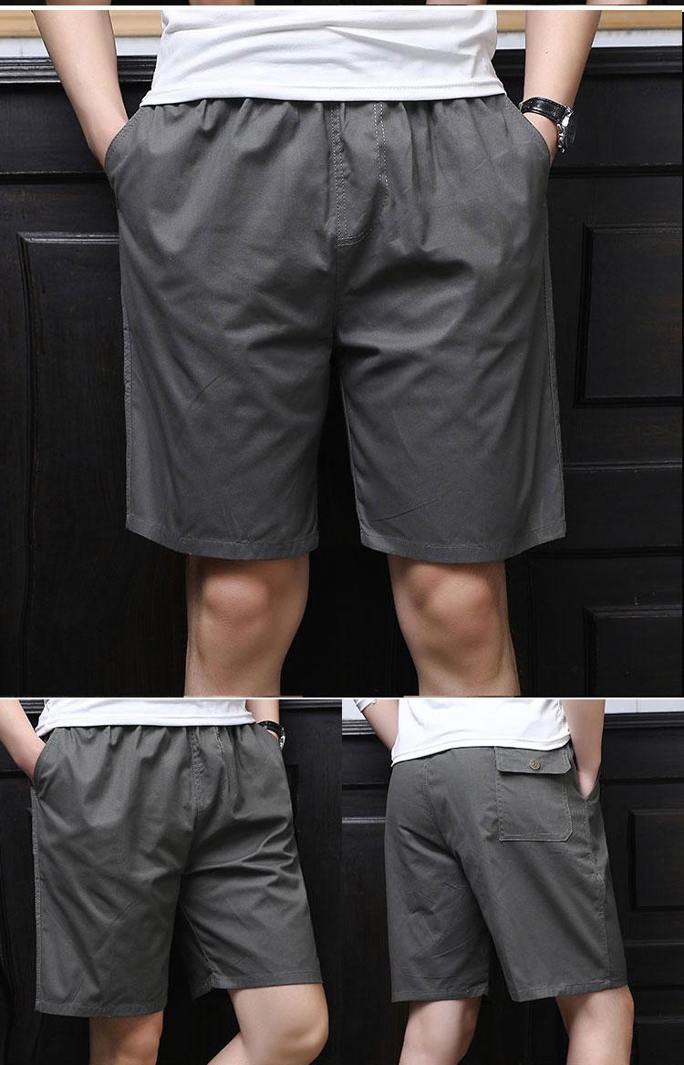 Mùa hè trung niên quần short nam phần mỏng lỏng bên ngoài mặc năm quần daddy nạp bông giản dị nhà quần lớn