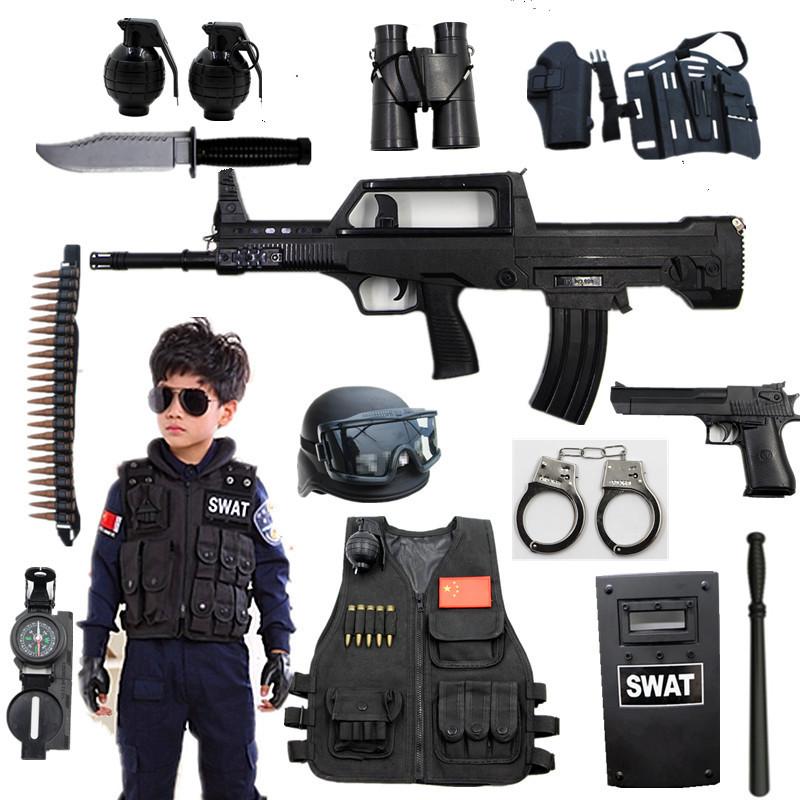 Usd 24 49 Children S Toy Gun Suit Police Clothes Toy Boy