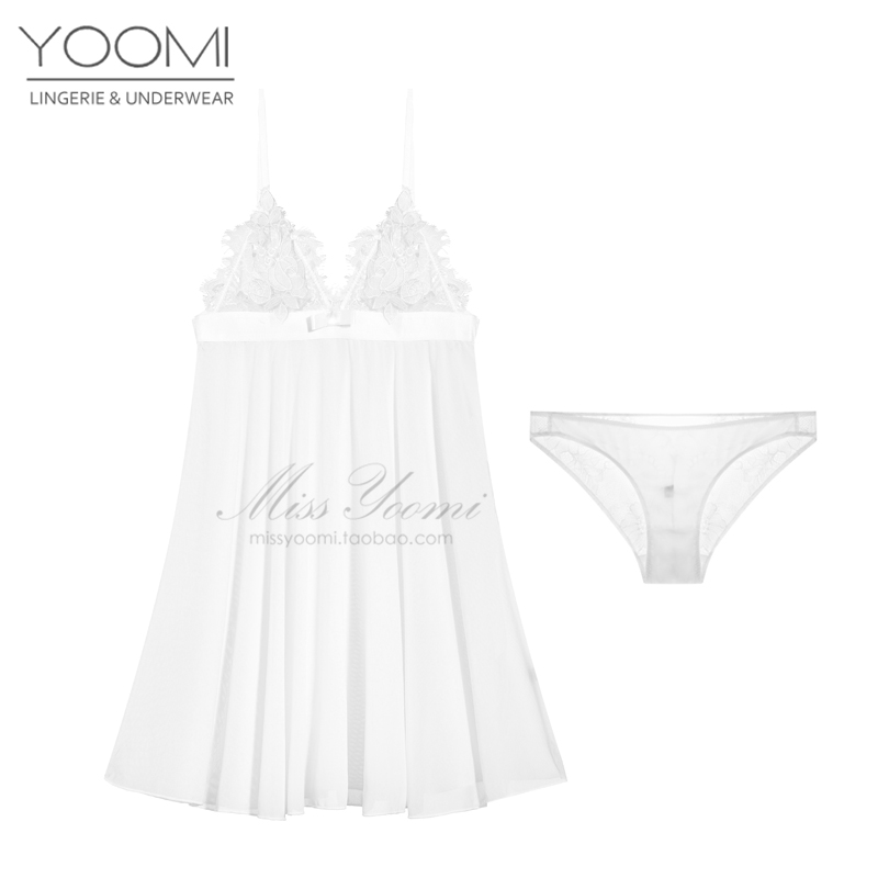 32d516d9dcccc USD 81.09  Sexy pajamas female summer lace nightdress harness ...