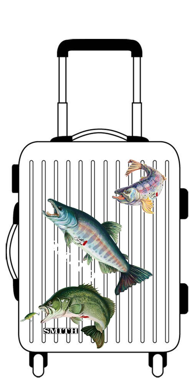 漁具 日本史密斯SMITH釣魚貼紙路亞山女鱒釣箱貼紙旅行箱鱸魚車貼防水