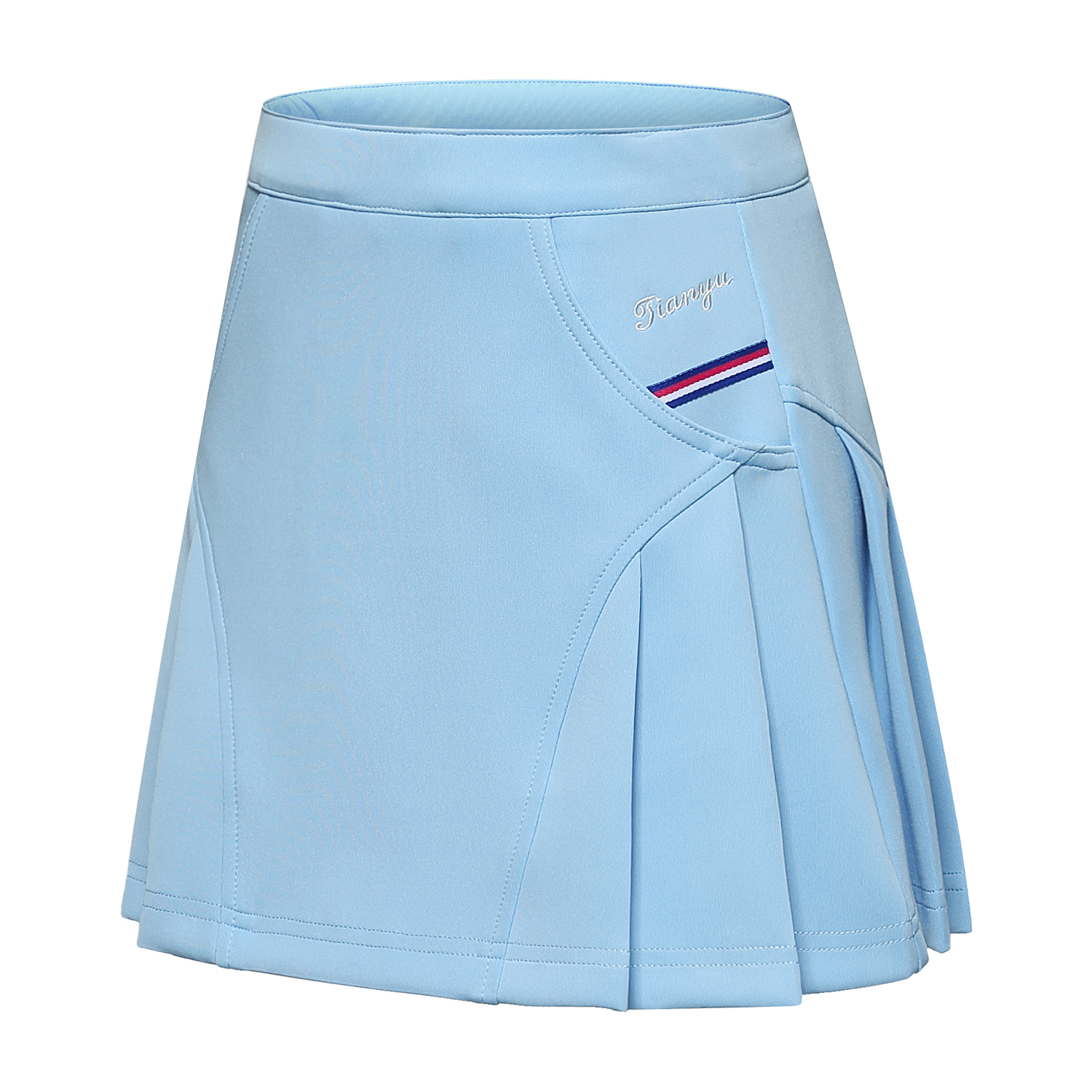 LIGHT BLUE SHORT SKIRT WITH ANTI-LIGHT LINING GIRLS