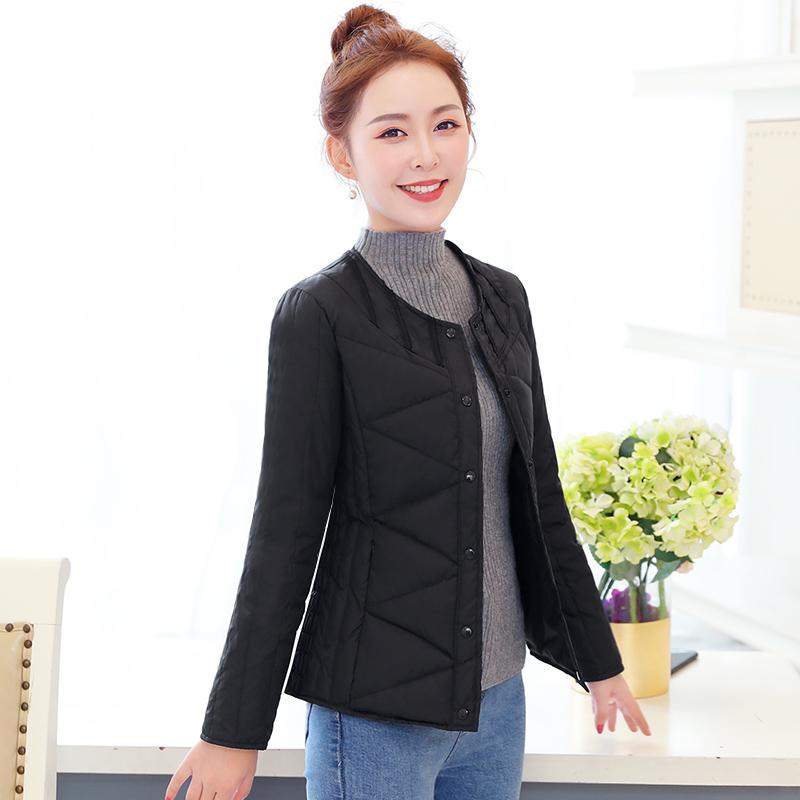 Тонкий тонкий краткое модель куртка вкладыш женщина зима большой длинными рукавами размер в надеть белый гусь в пожилых сгущаться мама .