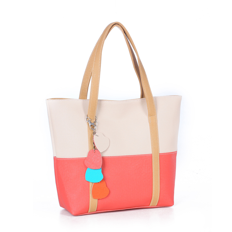 Large Capacity Women Shoulder Bag Two spell candy color female bag Fashion Lady Women Leather Bag 17