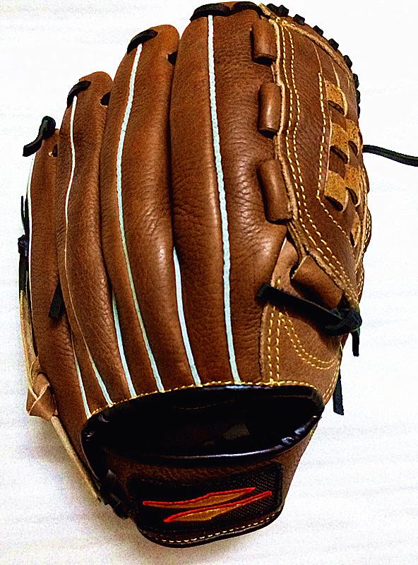 Большое значение! полностью кожаный бейсбол перчатки софтбол перчатки Питчерская дикая кисть детские