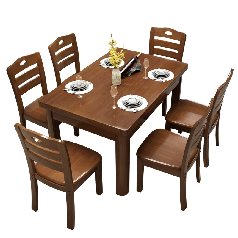 Phenomenal Usd 76 43 Full Wood Dining Table And Chair Combination Of Creativecarmelina Interior Chair Design Creativecarmelinacom