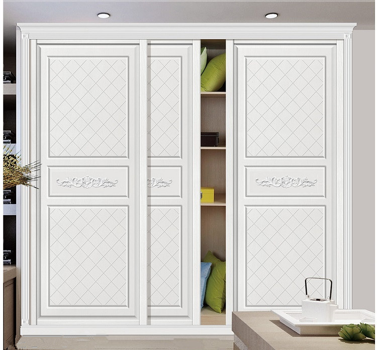 Custom European Style Sliding Door Modern Minimalist Wardrobe Sliding Door  Interior New Carved Wardrobe Door