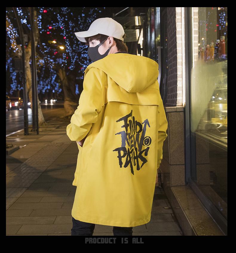 秋冬新款男士休闲外套男装上衣中长款风衣衣服1602-F767-P148