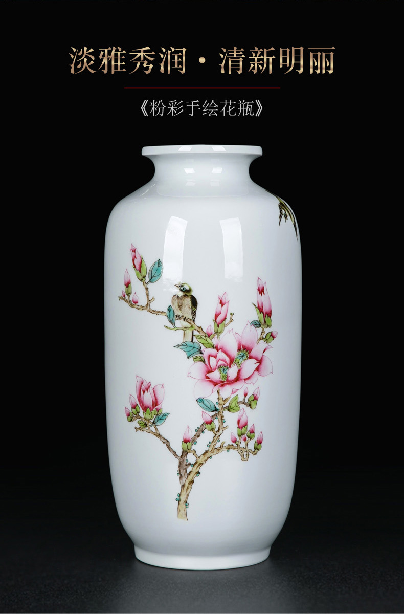 The Vases, ceramic decoration TV ark place flower arranging ceramic bottle of I and contracted sitting room desk Chinese vase