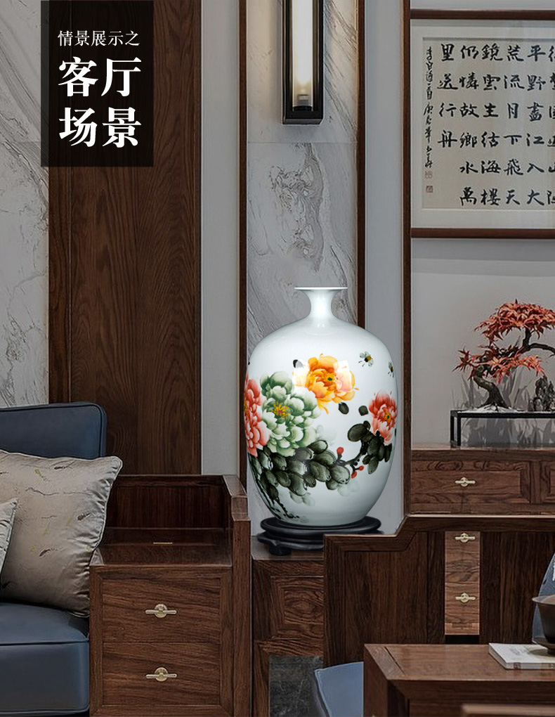 Chinese vase coloured drawing or pattern of jingdezhen traditional checking classical decorative vase furnishing articles sitting room ceramics arranging flowers