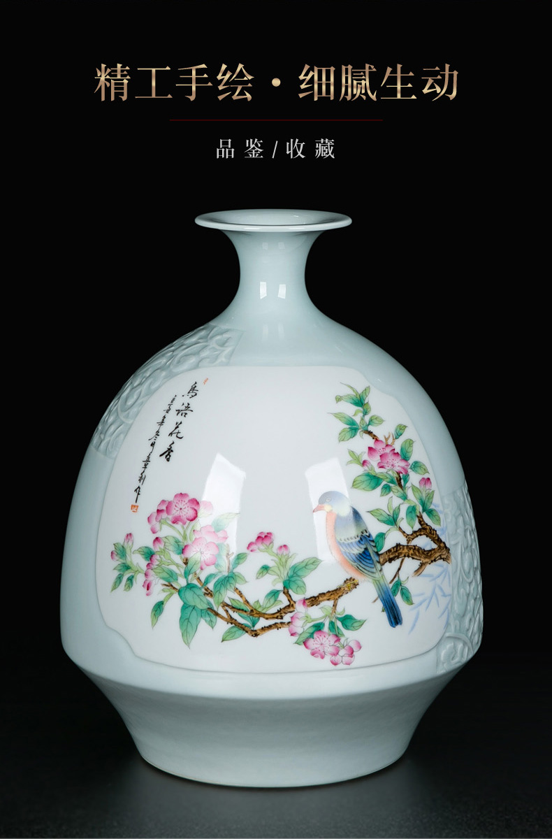 The Living room TV cabinet vase decoration furnishing articles wine ceramic bottle of household of Chinese style modern manual hand - made porcelain vase
