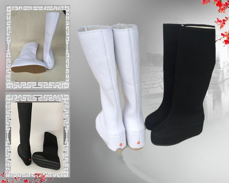 Обувь для китайского классического танца Костюм сапоги в повышенном костюм для мужчин и женщин, обувь древних боевых искусств обувь кроссовки, потому что ботинки показывают сапоги Хан