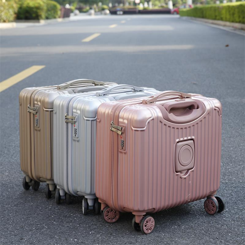 Luggage & Bags New Denim Trolley Suitcase Travel Bag Personality Trolley Case Female 18 Inch Korean Boarding Package Fashion Luggage Rapid Heat Dissipation