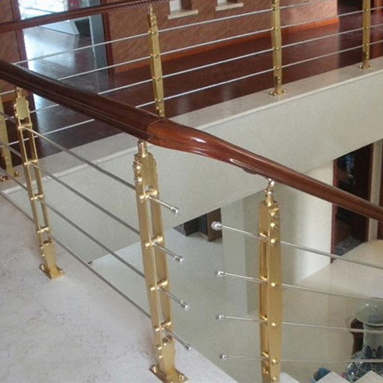 USD 27.23] 304 stainless steel column stair handrail railing gilded ...