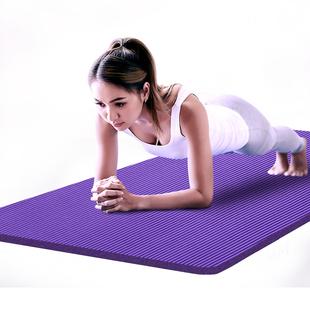 金啦啦瑜伽垫初学者加长地垫子男女士加厚加宽家用健身垫子三件套