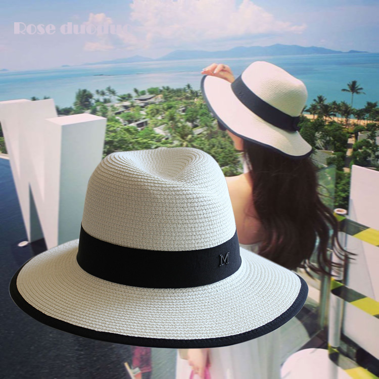 9e51d10d Small pepper Thailand holiday hat female hat m standard straw hat beach hat  sun hat travel sunscreen sun visor tide