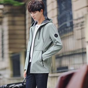 2018新款男士外套秋冬季韩版潮流休闲修身帅气学生服男士夹克