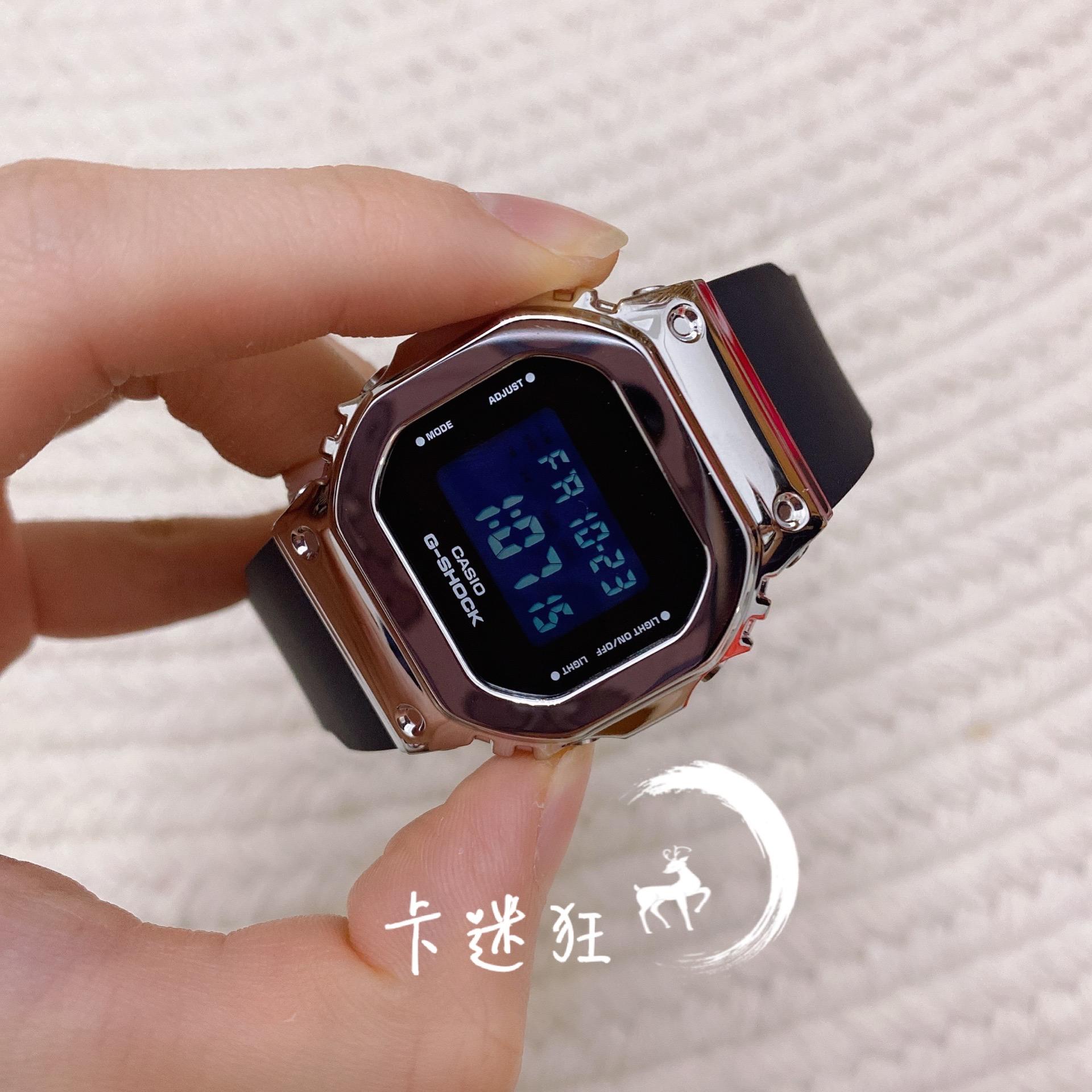 正品卡西歐金屬小方塊G-SHOCK復古運動手表GM-5600-1/B/S5600PG-4