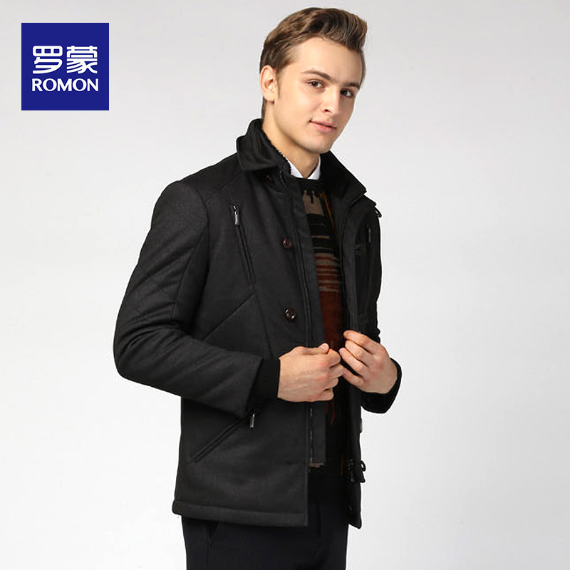 Romon 罗蒙 冬季短款加厚男式保暖棉服夹克外套 天猫优惠券折后¥139(¥189-50)