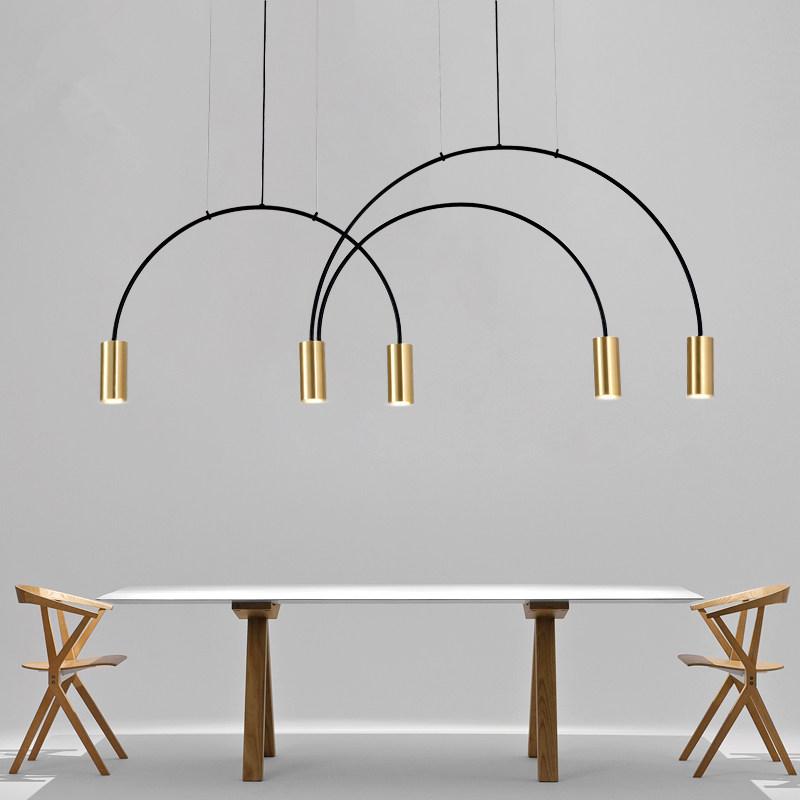 后现代吊灯橱窗个性几何灯具展厅线条吧台弧形创意曲线服装店餐厅