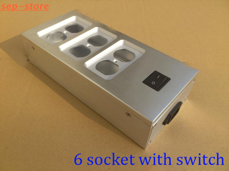 Aluminum electrical outlet box / power socket chassis outlet ...