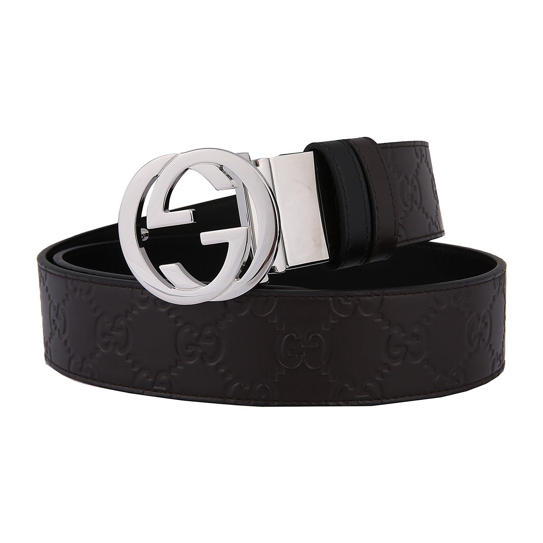 f1b719a65cf  Double-sided  Gucci   Gucci Gucci New Belt Men s Double G Belt 473030