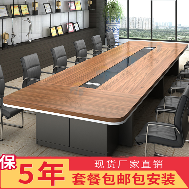 Plate Custom Large Conference Table Long Table Round Corner Meeting - Desk conference table combination
