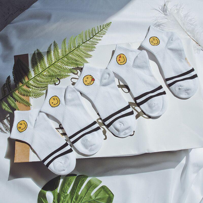 5双装袜子女新品时尚浅口短筒袜-优惠后3元包邮