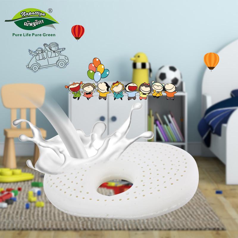 Napattiga娜帕蒂卡泰国原装进口天然乳胶枕婴儿初生儿椭圆定型枕