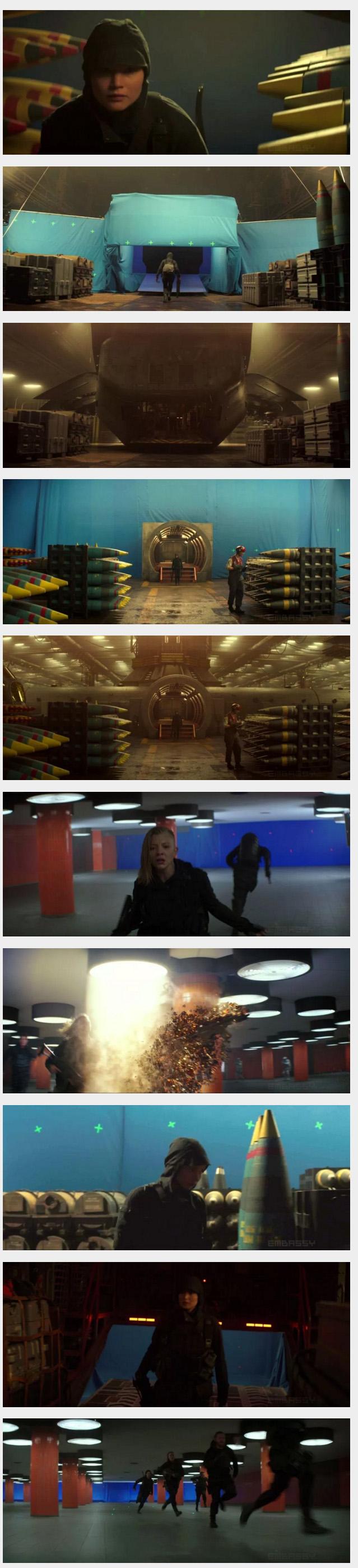 [赏析]电影《饥饿游戏3:嘲笑鸟》VFX特效幕后制作花絮,The Embassy制作