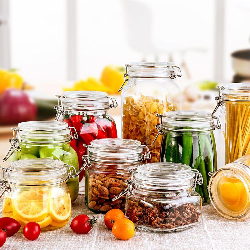 密封罐玻璃食品储物罐头瓶蜂蜜五谷杂粮透明带盖果酱酵素瓶子小号_天猫超市优惠券