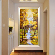 5d diamond painting full of porch vertical corridor corridor water wealth living room diamond embroidery 2019 new stickers diamond cross stitch