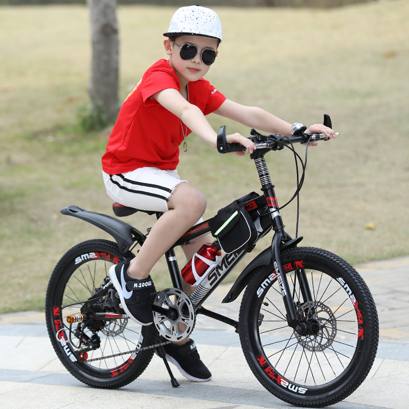 USD 65.55] Children's bike 20 22 inch double disc brake male and girl bike 7-8-9-10-14-year-old student variable speed mountain bike - Wholesale from China online shopping | Buy asian products online from