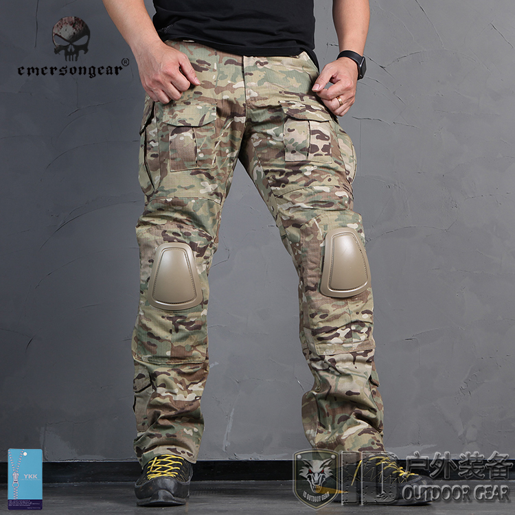 Authentic Emerson Emerson two generation field overalls outdoor camouflage  pants Special Forces Training Pants with knee pads