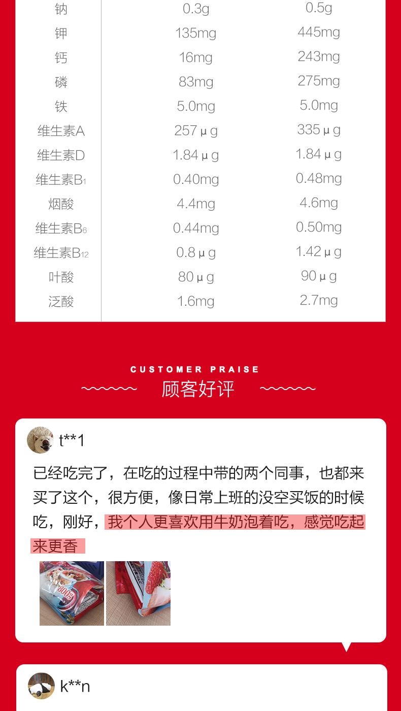 日本卡乐比水果即食早餐700g燕麦片4