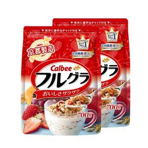 日本进口 卡乐比 经典水果麦片 700g*2袋 主图