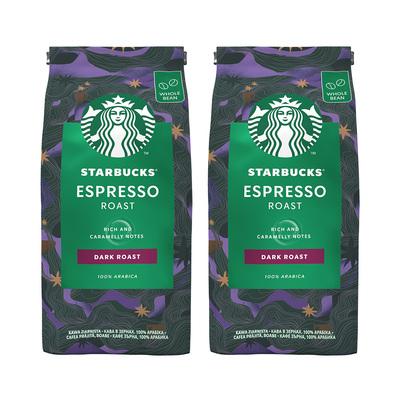 星巴克咖啡豆200g*2袋进口深度烘焙家享浓缩咖啡豆原装意式咖啡粉