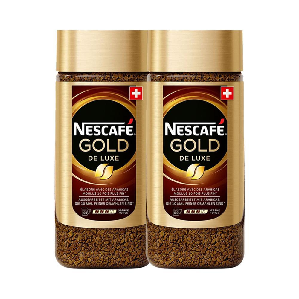 瑞士原装进口,现磨口感:雀巢 金牌无糖纯咖啡 200gx2罐