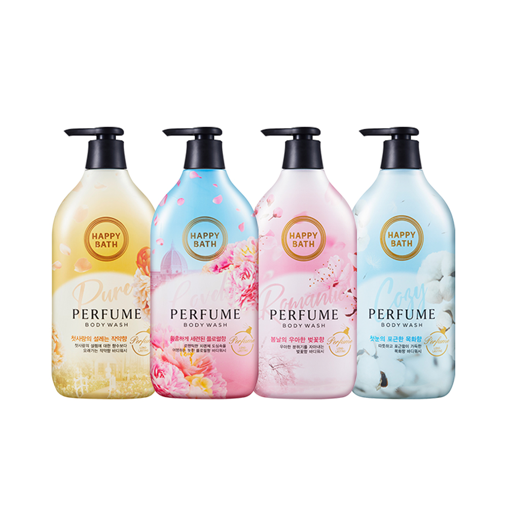 韩国进口happybath 香水沐浴露500g/瓶持久留香香体浴液正品樱花