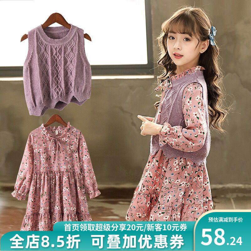 Váy bé gái xuân 2020 mới quần áo trẻ em kiểu tây phù hợp với váy bé gái mùa xuân công chúa váy hoa - Váy