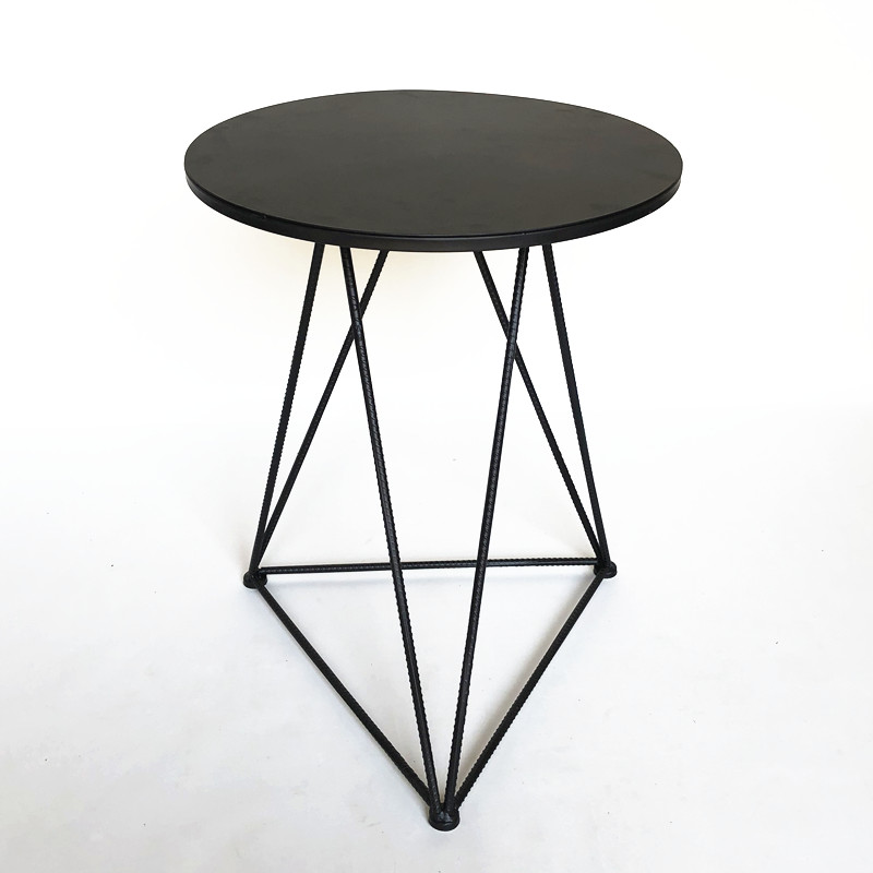 Black table iron plate desktop